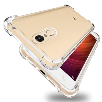 Slim Shockproof Bumper Case Cover for Xiaomi Redmi Note 4 / Note 4XTransparent Flexible TPU Protection