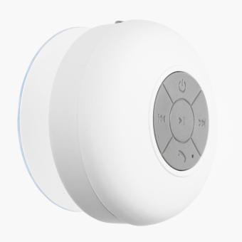 SM Accessories Waterproof Bluetooth Shower Speaker (White)