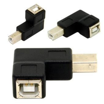 Small Portable Printer USB 2.0 B Male to USB B Female ConnectorAdapter 90? - intl