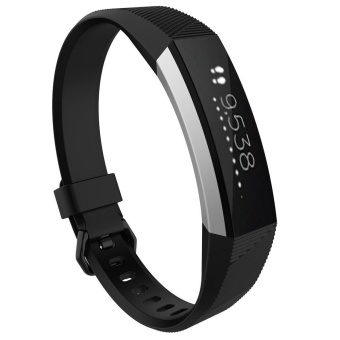 Small Replacement Wrist Band Silicon Strap Clasp For Fitbit Alta HR Watch BK - intl