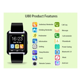Smart Bluetooth Watch Call Message Reminder Sleep Monitor forIOS/Android Phone - intl - 3