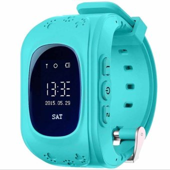 Smart Phone Watch Children Kid Wristwatch G36 Q50 GSM GPRS GPSLocator Tracker Anti-Lost Smartwatch Child Guard for iOS Android(Blue)