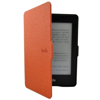 Smart Ultra Slim Magnetic Case Cover For Kindle Paperwhite+Screenfilm Orange