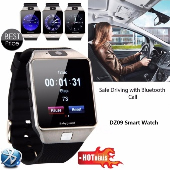 Smart Watch DZ09 With Camera Anti-lost Bluetooth WristWatch SIM Card MP3 Player Smartwatch for Apple ios and android phone Support Multi languages(Black) - intl