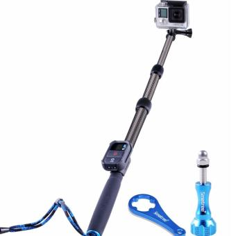 Smatree SmaPole S2C Carbon Fiber Extendable Pole for GoPro Hero5/4/3+/3/2/1/Session/SJCAM/Yi Cam/ and other similar Action Cameras