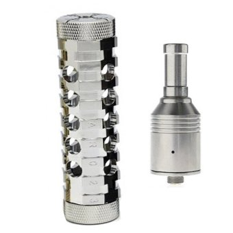 Smok Stainless Steel Ar Mod V1.5- USA Made Mechanical Mod (Silver)With free RDA Atomizer