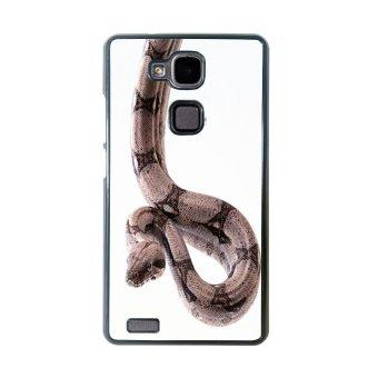 Snake Print Pattern Phone Case for Huawei Mate 7 (Black)