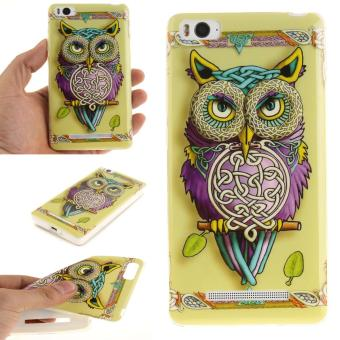 Soft Fit TPU Phone Back Cover For Xiaomi Mi 4i 4C (Colorful Owl) -intl