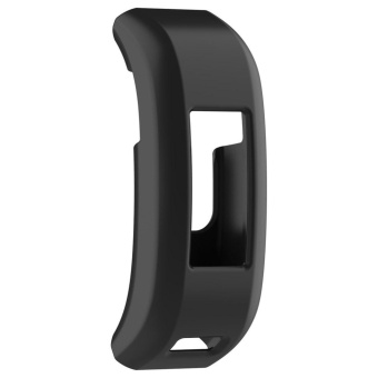 Soft Rubber Protective Frame Case for Garmin Vivosmart HR Fitness Tracker(Black) - intl