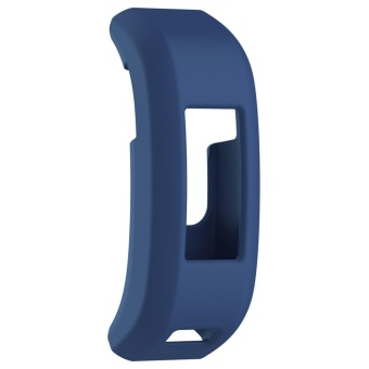 Soft Rubber Protective Frame Case for Garmin Vivosmart HR Fitness Tracker(Blue) - intl