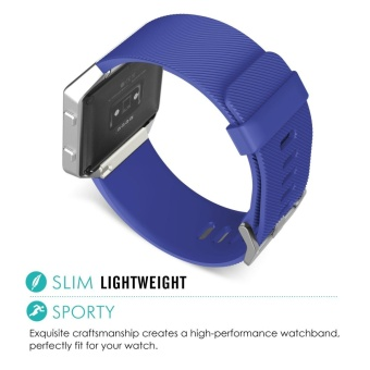 Soft Silicone Adjustable Replacement Sport Strap Band for FitbitBlaze Smart Fitness Watch - intl - 5