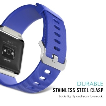 Soft Silicone Adjustable Replacement Sport Strap Band for FitbitBlaze Smart Fitness Watch - intl - 2