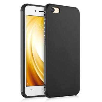Soft Silicone Back Cover Case For VIVO Y53 2017 (Black) - intl