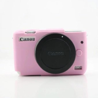 Soft Silicone Gel Rubber Camera Case Cover for Canon EOS M10(Pink)- intl