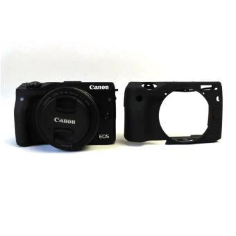 Soft Silicone Gel Rubber Camera Case Cover for Canon EOS M3(Black)- intl - 3