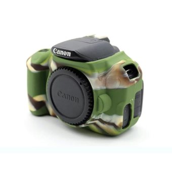 Soft Silicone Gel Rubber Camera Case Cover for Canon650D/700D(Green) - intl