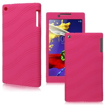 Soft Silicone Rubber Gel Skin Case For Lenovo Tab 2 A7-30 Tablet PC7inch (Pink)