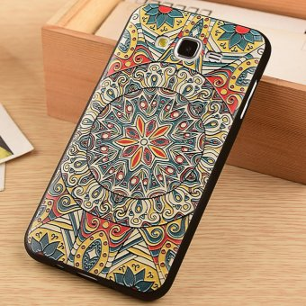 Soft TPU Case for Samsung Galaxy J7 (2015) Totem Flower 3D EmbossedPainting Series Protective Cover - 4