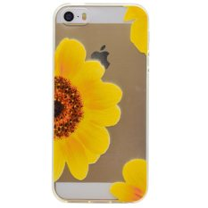 Soft TPU Cover Case for Apple iPhone 5 / 5s / SE (Yellow Flowers)