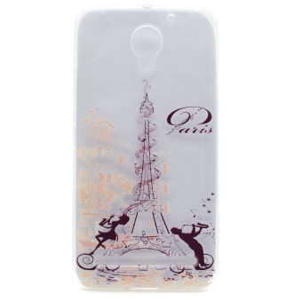 Soft TPU Cover Case for Lenovo Vibe C2 (Eiffel Tower) - intl