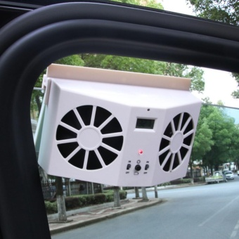 Solar Powered Car Interior Auto Air Vent Cool Fan CoolerVentilation System - intl