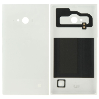 Solid Color Plastic Battery Replacement Back Cover for Nokia Lumia 730(White)
