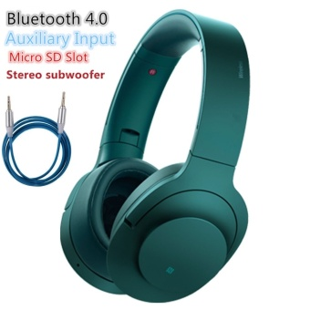 Sony MDR-100ABN 103dB Stereo Subwoofer Wireless Bluetooth Headset(Blue/Green)