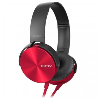 Sony MDR-XB450AP 102dB Extra Bass Smartphone Headset (Red) WITHFREE PHONE RING STAND