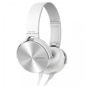 Sony MDR-XB450AP 102dB Extra Bass Smartphone Headset (White)