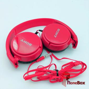 Sony MDR-XB668 With Mic Over-the-Ear Headphones (red)