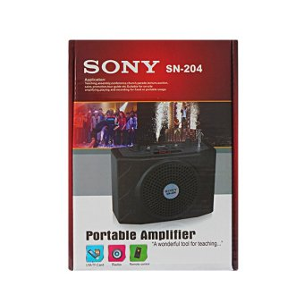 Sony SN-204 Portable Body-Pack Amplifier FM Radio/MP3 Player (Black)