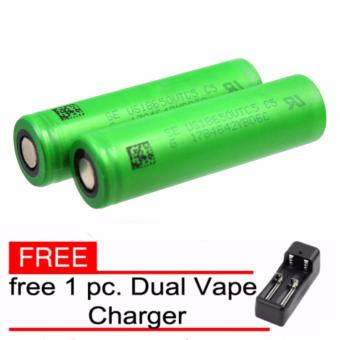 Sony VTC4 18650 2600mAh 20A Flat Top Rechargeable Battery Set of 2with free Dual Vape Charger