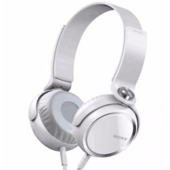 Sony Xb400 108Db Stereo Subwoofer Headphone (White) With Free Phone Ring Stand