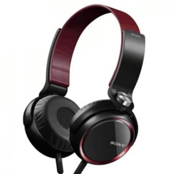 Sony XB400 108dB Stereo Subwoofer Headphones (Black/Red) WITH FREE PHONE RING STAND