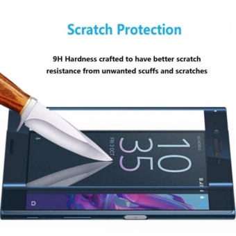 Sony Xperia XZ Screen Protector,3D Full Screen Coverage 9H-Hardness Tempered Glass Screen Protector, Ultra-thin Shatterproof Anti-Scratch HD Clear Ballistic Glass Screen Protector (Blue) - intl - 3