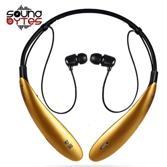 Sound Bytes HBS-800 Bluetooth V4.0 Sports Neckband Headset (Gold) Price Philippines