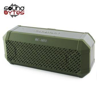 Sound Bytes RC-1031 Bluetooth Wireless Stereo Speaker (Army Green)