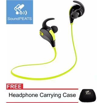 SoundPEATS QY7 with carrying pouch. Bluetooth Noise Cancelling Sport In-Ear Earphones headset with Mic Price Philippines