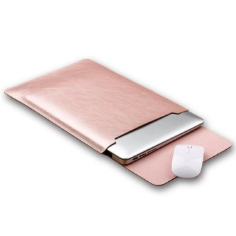 SOYAN Crazy Horse Leather Sleeve Case with Mouse Pad for 13-inch MacBook Air/Pro - Rose Gold - intl Price Philippines