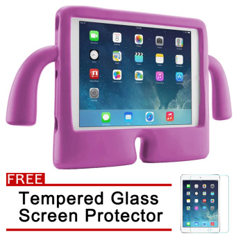 Speck Kids Products iGuy Protective Shockproof Case for Apple iPadAir / Air 2 / iPad 5 / iPad 6 (Pink) with Free Tempered GlassScreen Protector