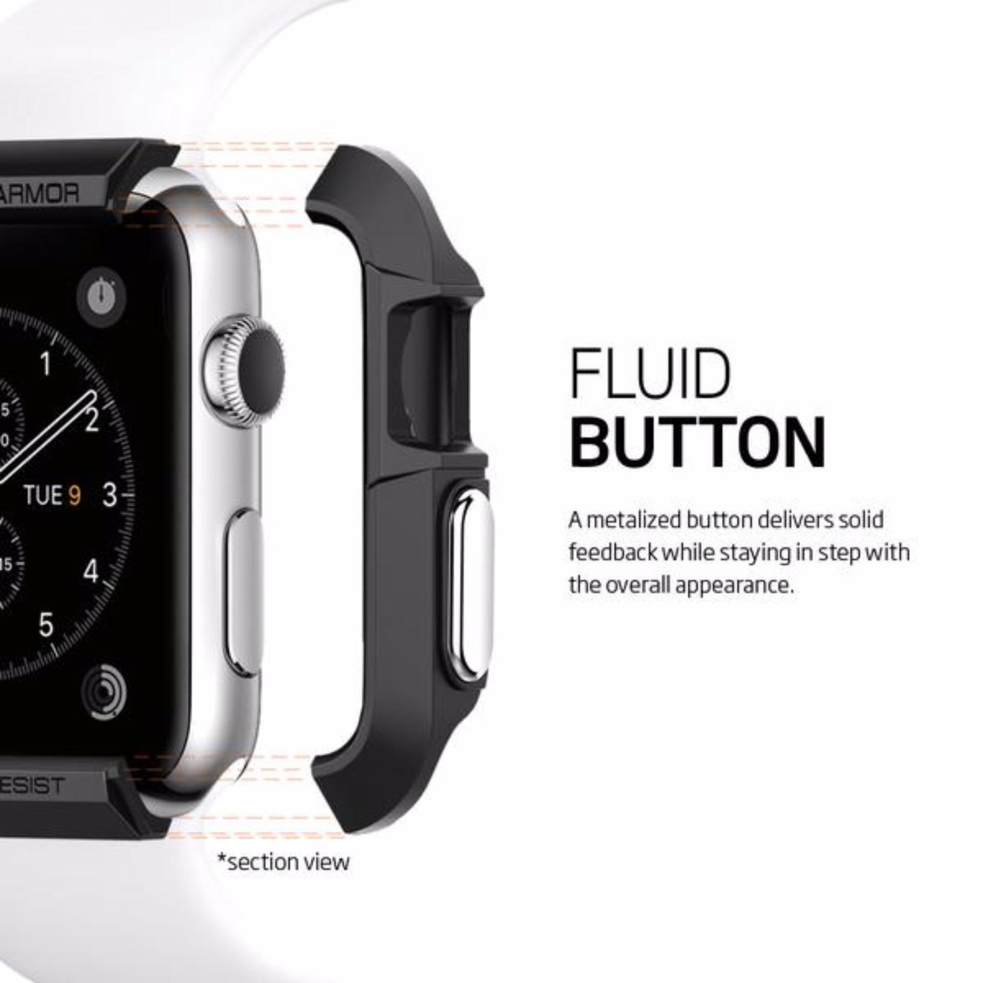 ... Spigen Apple Watch Series 3/2/1 (38mm) Case Rugged Armor Black ...