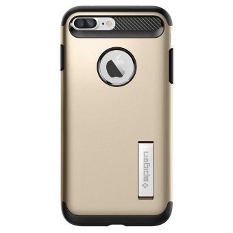 Spigen Slim Armor Case for iPhone 7 Plus (Champagne Gold) - 2