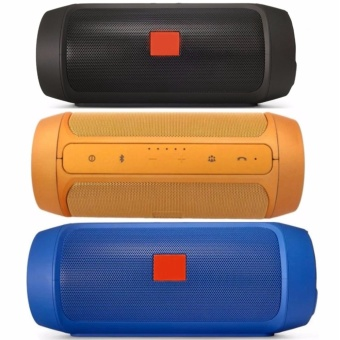 Splashproof Portable Wireless Bluetooth Speaker And Power Bank Set of 3 (Black,Gold,Blue)