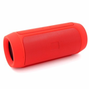 Splashproof Portable Wireless Bluetooth Speaker And Power Bank(Red)
