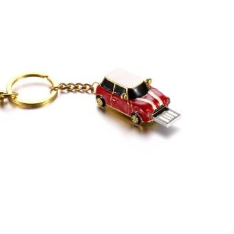 Sport Car USB Flash Drives Mini Metal Car Pen Drive 64GB 32GB 16GB8GB Usb Flash Memory Stick Pendrive U Disk ( Red) - intl - 3