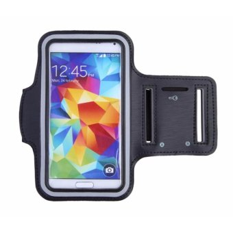 Sports Gym Armband Arm Band Cover for Samsung Galaxy S5 (Black)