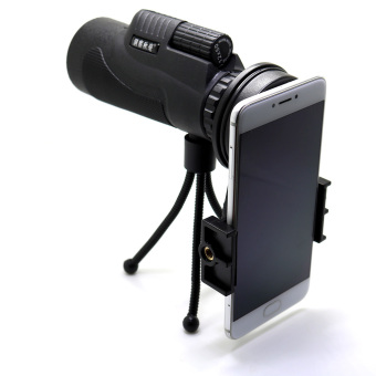 Sports Hiking Telescope 12x50 Monocular Camp Travel Telescope 12 Magnification for Cellphone Camera Lens with Tripod Universal Phone Stable Bracket - 2