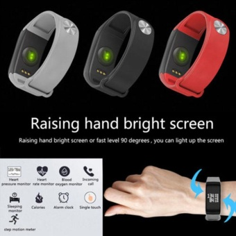 Sports Pedometer Blood Pressure Oxygen Heart Rate Fitness Smart Watch Bracelet - intl