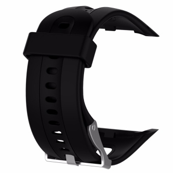 Sports Silicone Rubber Wrist Band Strap for Garmin Forerunner 10/15 Small/Large GPS Running Watch - intl