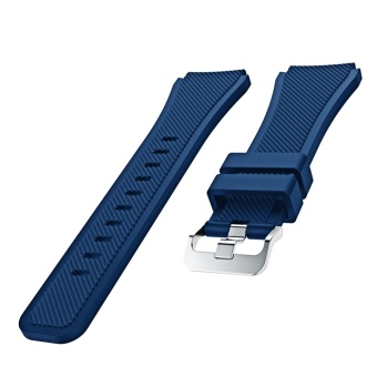 Sports Soft Silicone Replacement Watch Band Strap Watchband Wristband for Samsung Gear S3 Frontier Classic Navy Blue - intl